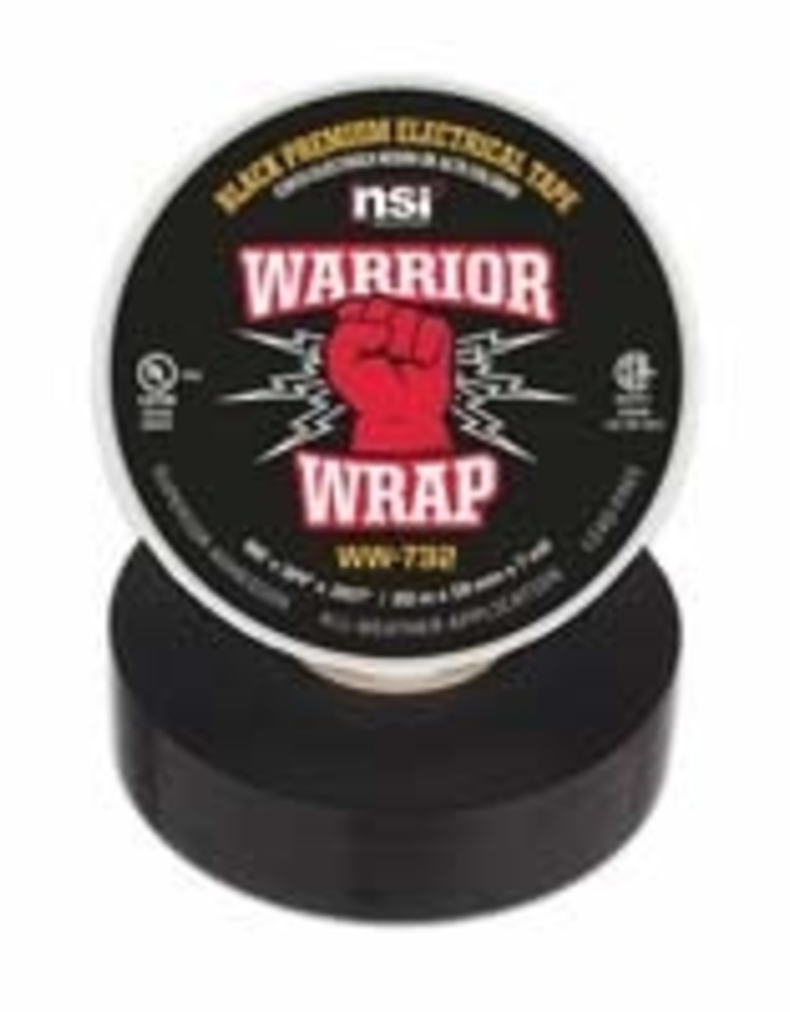 NSI Industries Warrior Wrap Electrical Tape UL Listed 3/4 x 66