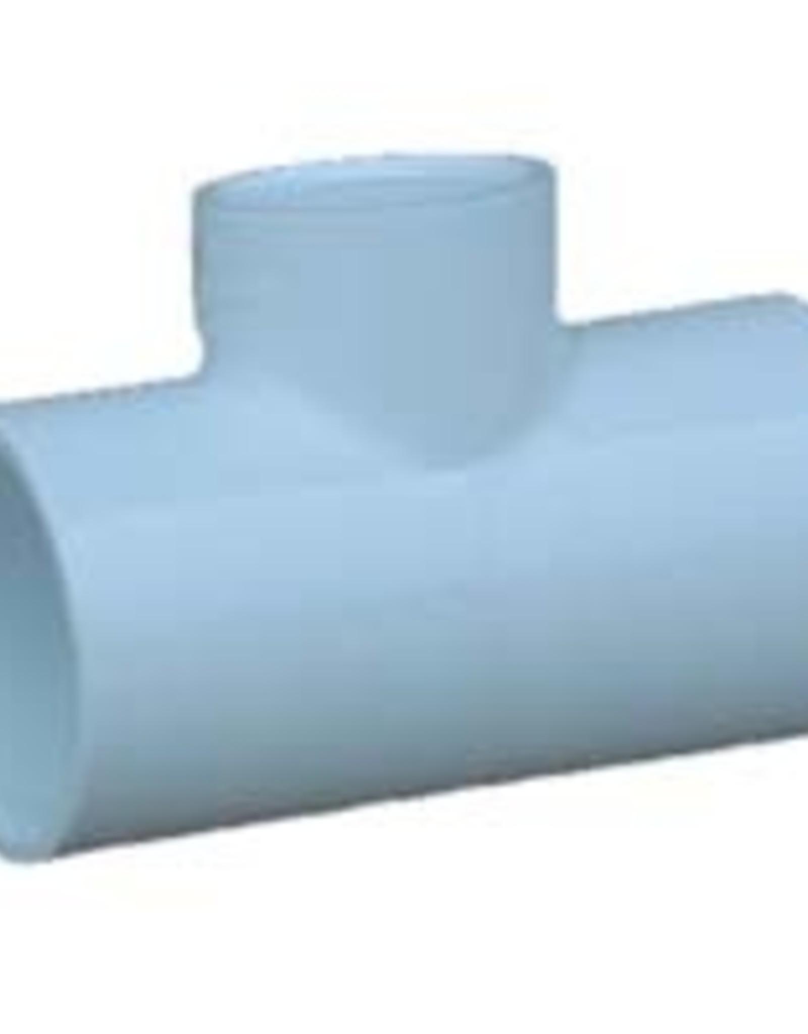 Charlotte Pipe & Foundry PVC 3/4 X 3/4 X 1/2 Tee Slip x Slip x Slip SCH 40