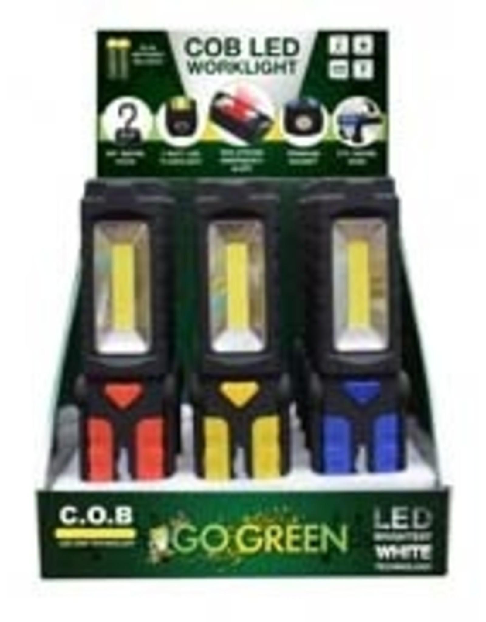 Go Green Power COB LED Led Flashlight/Worklight