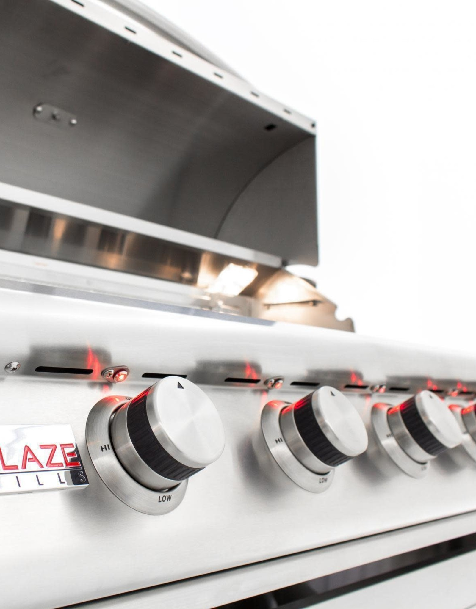 Blaze Outdoor Products Blaze LTE 40-Inch 5-Burner Built-In Propane Gas Grill With Rear Infrared Burner & Grill Lights - BLZ-5LTE2-LP