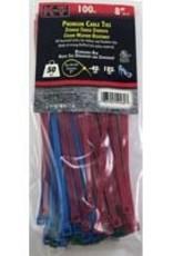"""Kt Industries 5-9460 8"""" Standard Duty UV Assorted Color Zip Ties"""