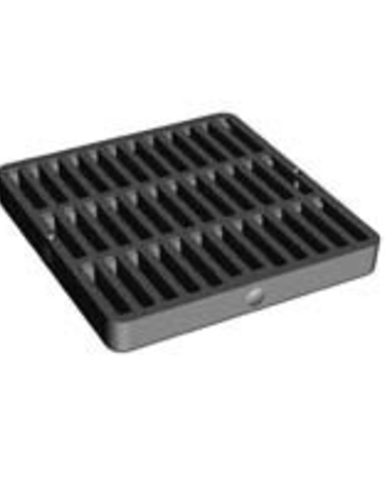"""NDS Drainage NDS 9"""" x 9"""" Black Square Grate Cover"""