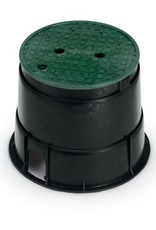 Rain Bird Rain Bird 10 in. Round PVB Valve Box - Black Body & Overlapping Green Lid PVB10RND