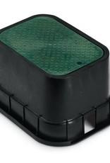 Rain Bird Rain Bird 12 in. PVB Standard Valve Box - Black Body & Drop-in Green Lid PVBSTD