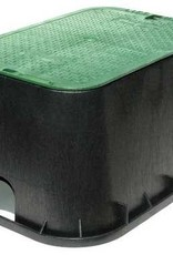 """NDS Drainage NDS Jumbo Valve Box with Overlapping Cover, Black/Green, 12"""" x 20"""" 117BC"""