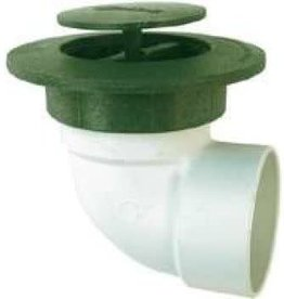 """NDS Drainage NDS 422G 4"""" Pop Up Drainage Emitter with Elbow, Green"""