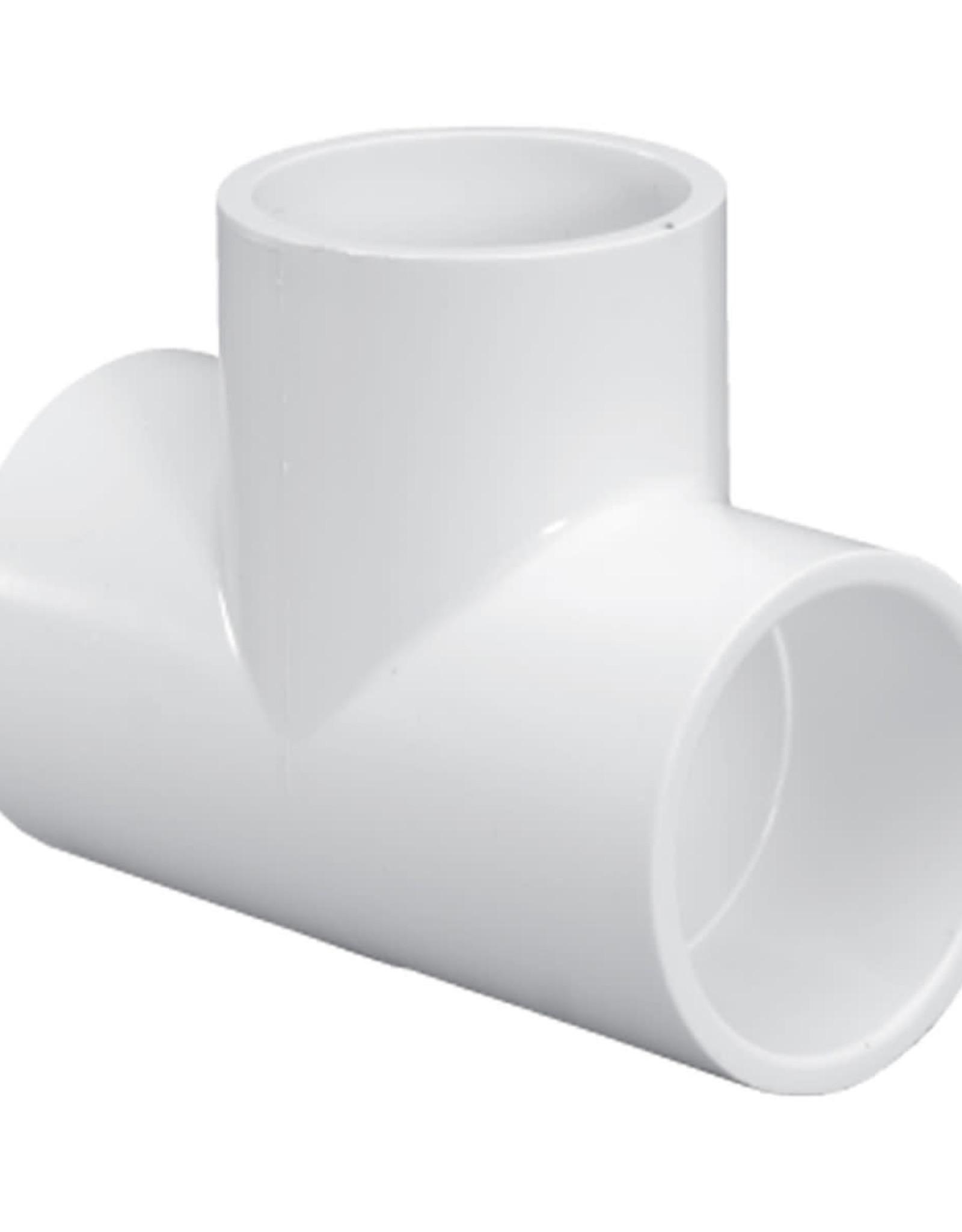 "Charlotte Pipe & Foundry PVC 2"" Tee Slip X Slip X Slip SCH 40 Pressure"