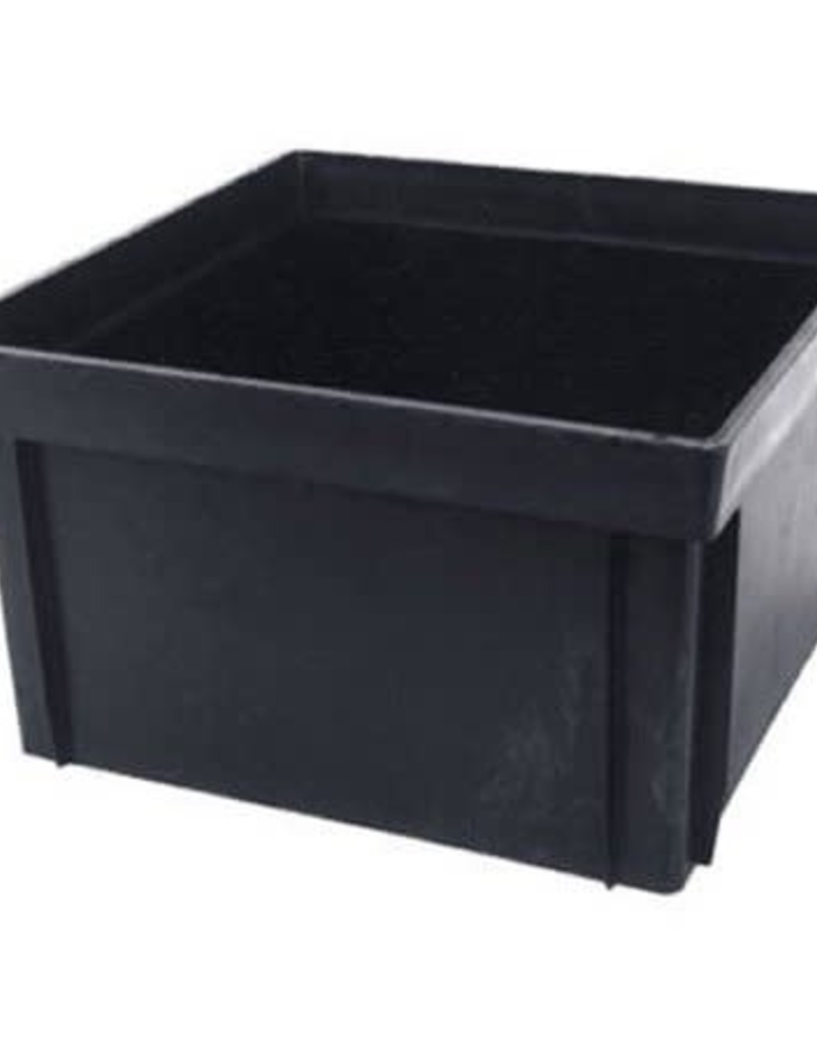 "NDS Drainage NDS 12 in. Square Extension 6"" Tall Catch Basin Riser Bottomless Black Plastic"