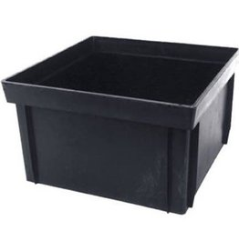 """NDS Drainage NDS 12 in. Square Extension 6"""" Tall Catch Basin Riser Bottomless Black Plastic"""