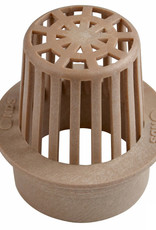 NDS Drainage NDS Drain Grate Round Atrium Polyolefin Tan 3 in.