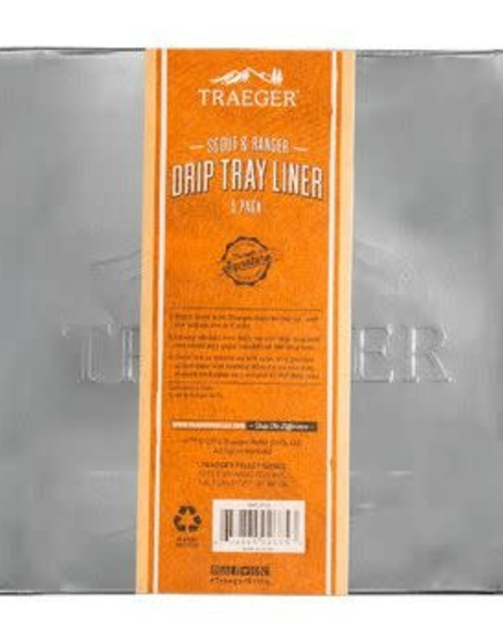 Traeger Traeger Drip Tray Liner 5 Pack - Scout & Ranger - BAC458