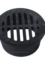 """NDS Drainage NDS 3"""" Round Grate - Black"""
