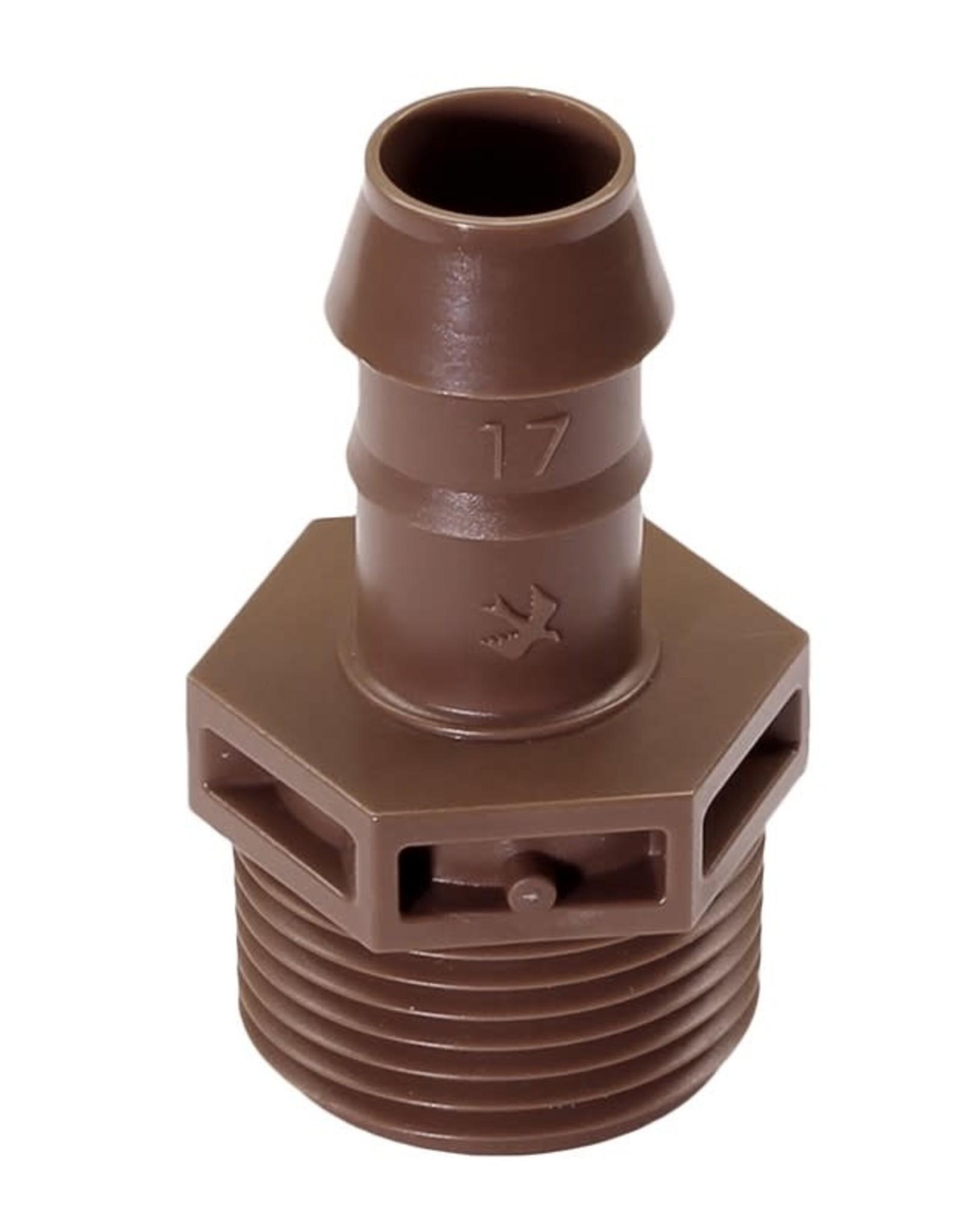 Rain Bird Rain Bird XF Male Adapter 17 mm x 3/4 in. Barb x MIPT (25 Pack)