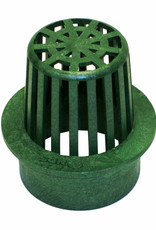 NDS Drainage NDS Drain Grate Round Atrium Polyolefin Green 3 in.