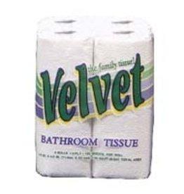"Cascades/Orchids Paper Velvet Toilet Tissue Paper 2-PLY 150 Sheets Per Roll 4.27"" x 3.75"" 96071 4 Rolls"