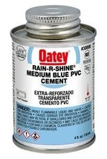 Oatey Oatey - Rain R Shine Medium Blue PVC Cement 4oz