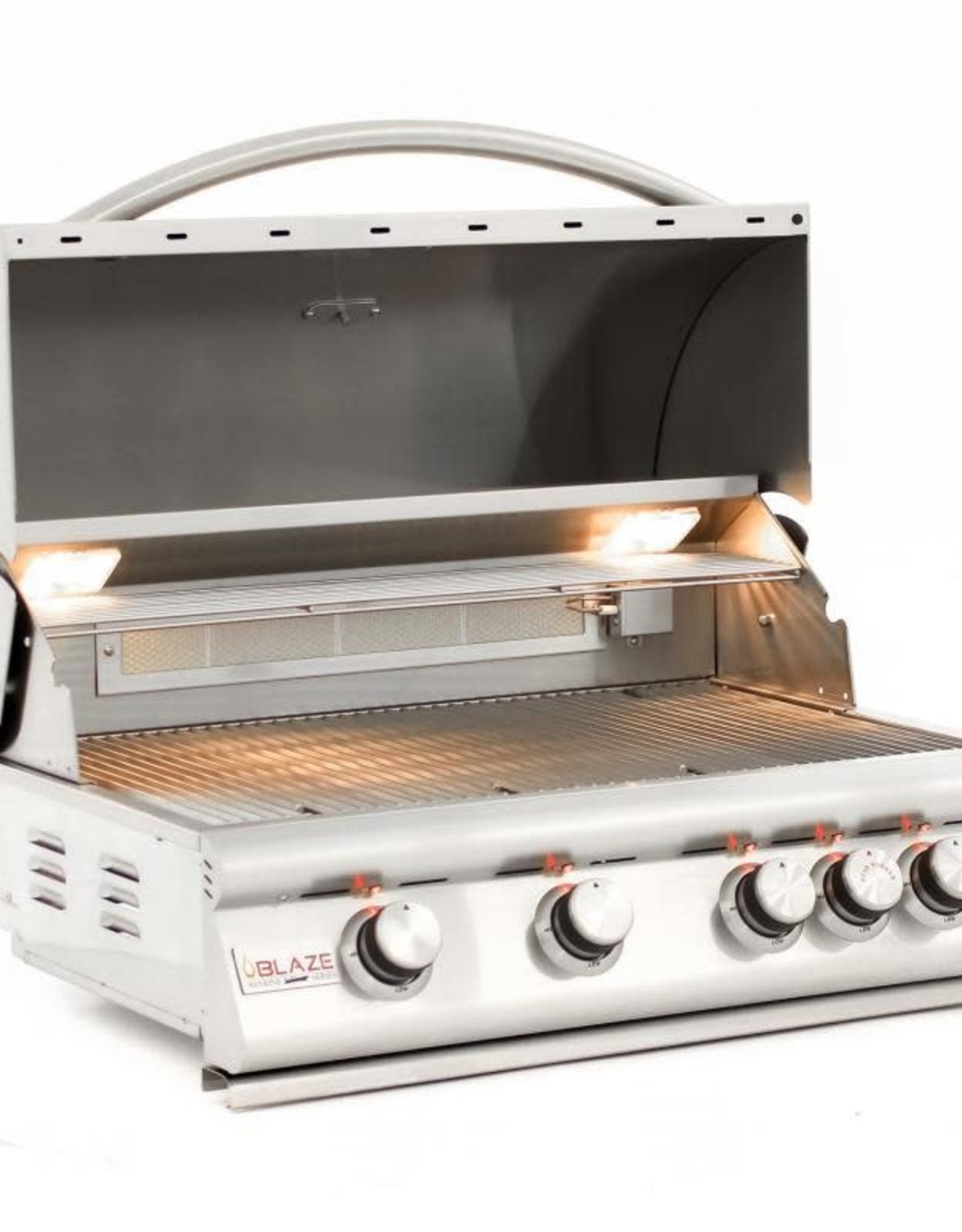Blaze Outdoor Products Blaze LTE Marine Grade 32-Inch 4-Burner Built-In Natural Gas Grill With Rear Infrared Burner & Grill Lights - BLZ-4LTE2MG-NG