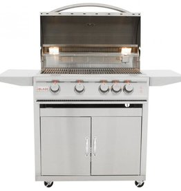 Blaze Outdoor Products Blaze LTE 32-Inch 4-Burner Propane Grill With Rear Infrared Burner & Grill Lights with Cart BLZ-4LTE2-LP + BLZ-4-CART