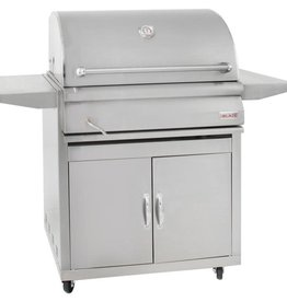 Blaze Outdoor Products Blaze 32-Inch Stainless Steel Charcoal Grill With Adjustable Charcoal Tray and Cart - BLZ-4-CHAR + BLZ-4-CART