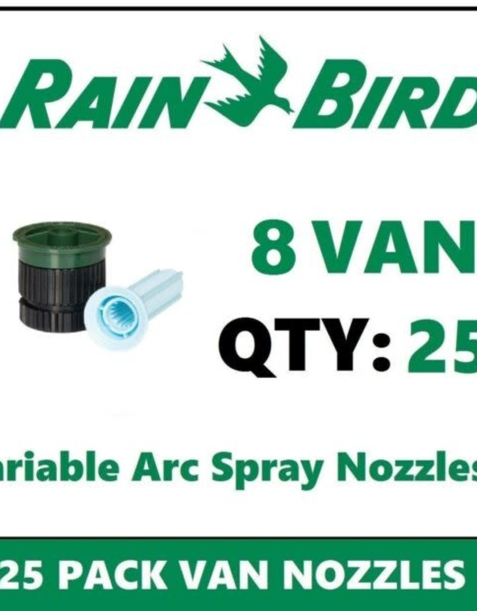 Rain Bird Rain Bird 8VAN Nozzle 8 ft. Radius Variable Arc VAN - 25 Pack