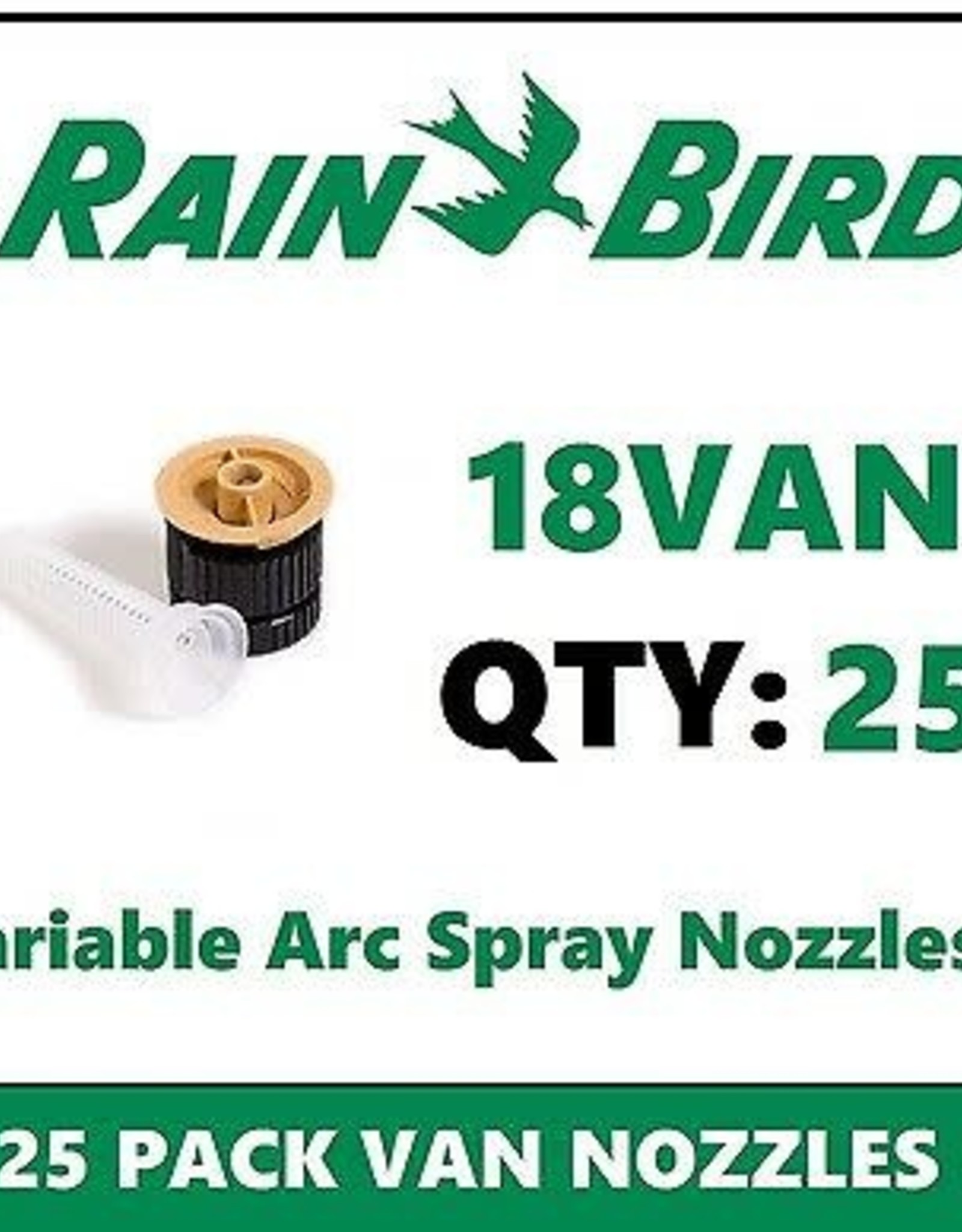 Rain Bird Rain Bird 18VAN Nozzle 18 ft. Radius Variable Arc VAN - 25 Pack