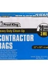 Thermwell Products Frost King Heavy Duty Clean-Up 3-Mil 42 Gallon Contractor Bags 20 Pack
