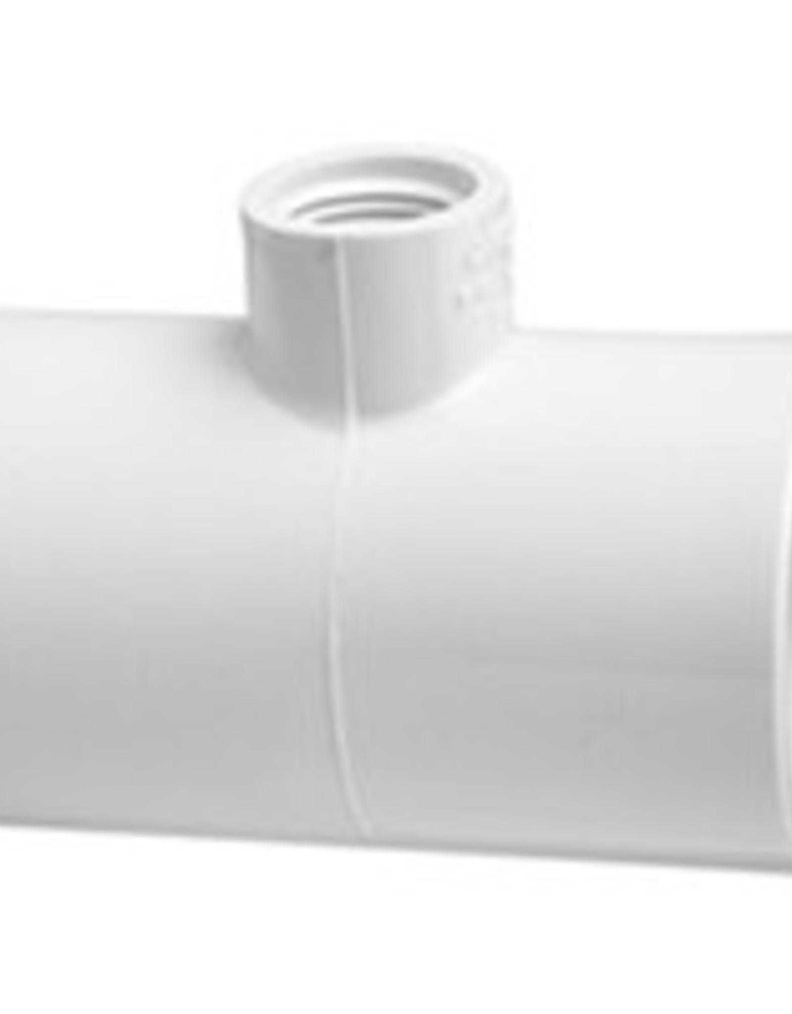 "Lasco Fittings PVC 1"" Reducing Tee Slip x Slip x 1/2"" FPT - 50 PACK"