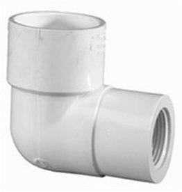 "Lasco Fittings PVC 1"" Reducing Elbow 90 Degree Slip x 1/2"" FPT"
