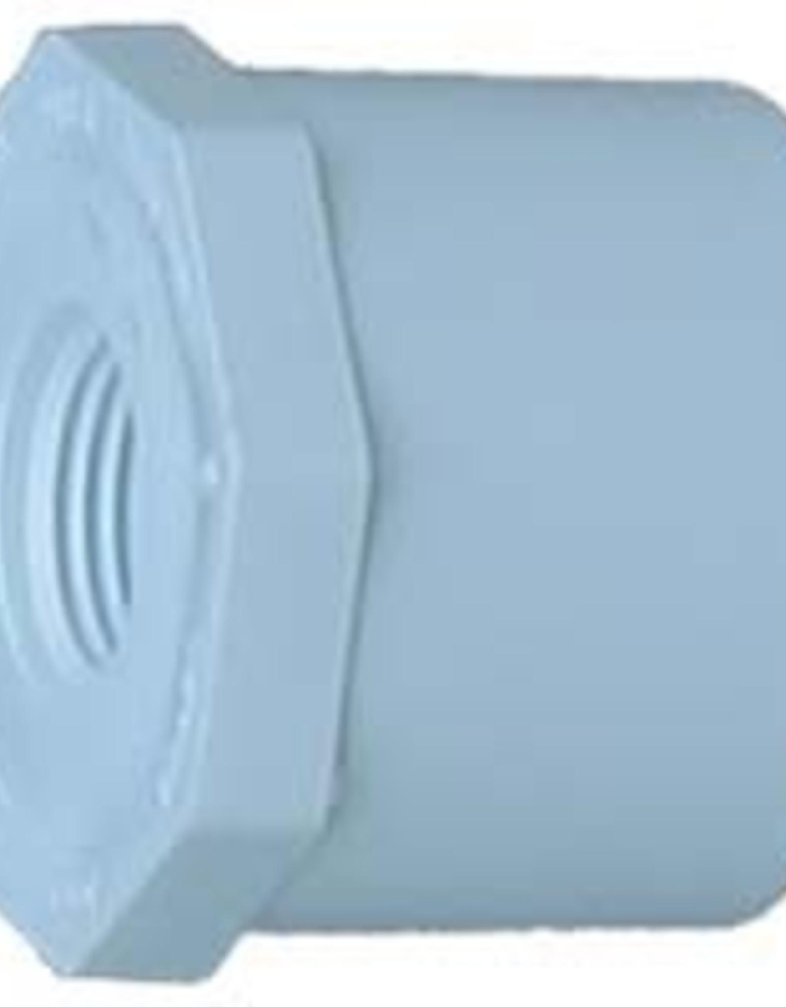"LASCO PVC 1"" x 3/4 Reducing Bushing Slip x FPT SCH 40"