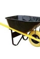 7 Cubic Ft Contractor Wheelbarrow - Flat Free Tire