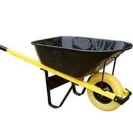 7 Cubic Ft Contractor Wheelbarrow - Flat Free Tire