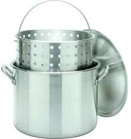 Barbour International Bayou Classic Boiler 80qt Aluminum Stockpot with Basket