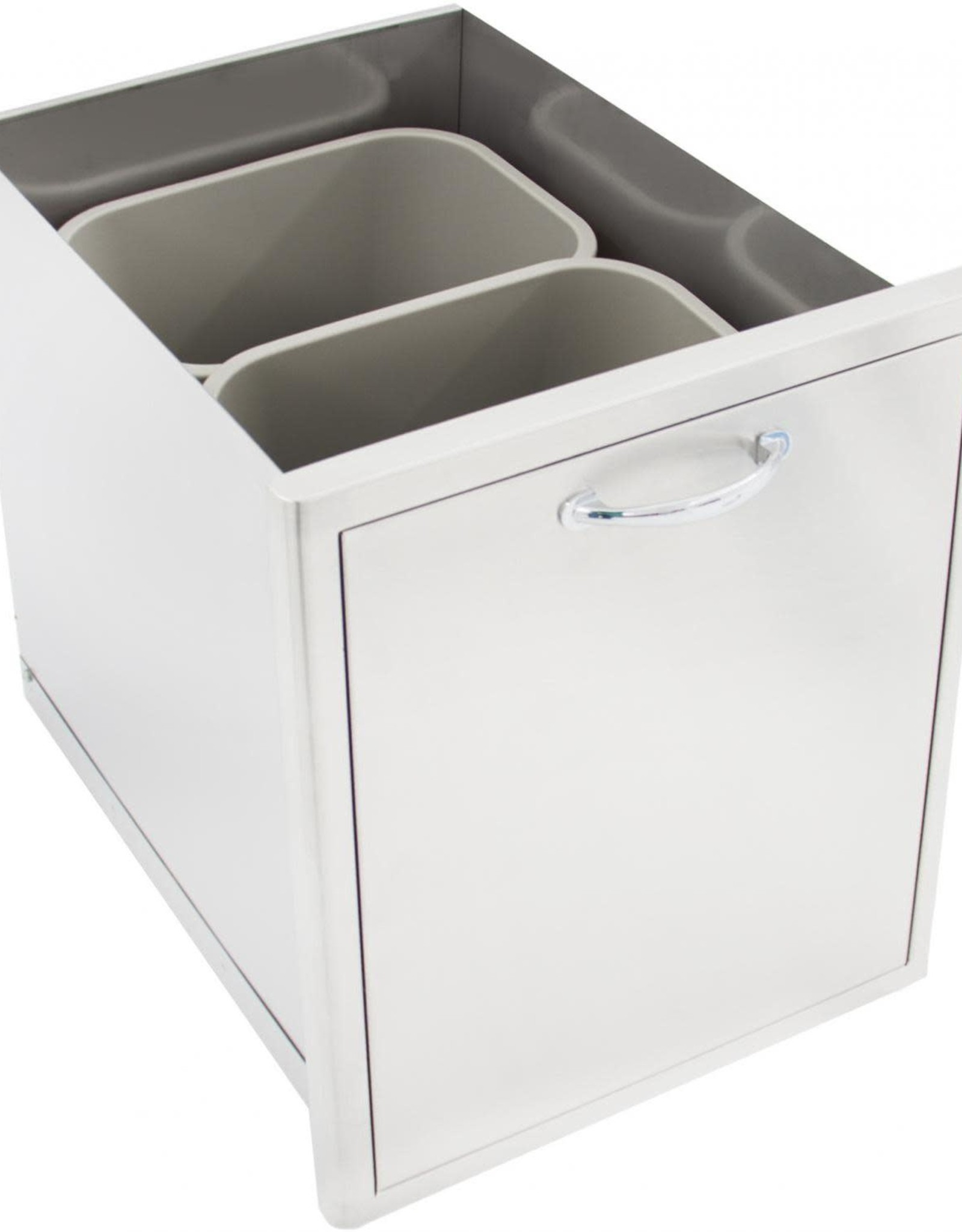 Blaze Outdoor Products Blaze Roll-Out Double Trash Recycle Drawer BLZ-TREC-DRW
