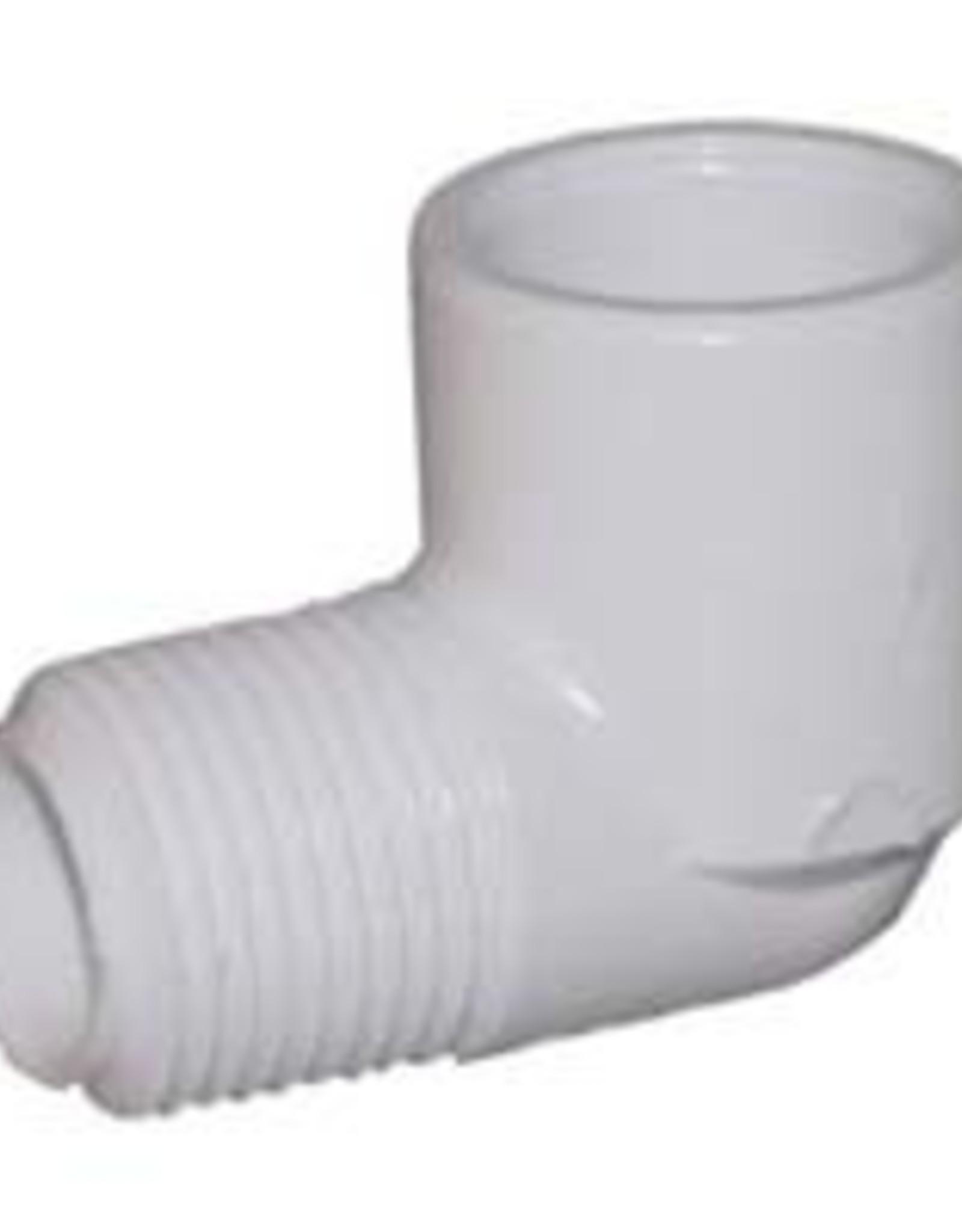 "Lasco Fittings PVC 1"" Street Elbow Slip x MPT SCH 40"