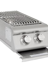 Blaze Outdoor Products Blaze LTE Built-In Natural Gas Stainless Steel Double Side Burner With Lid - BLZ-SB2LTE-NG