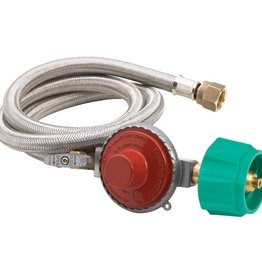 Bayou Classic Bayou Classics 48 in. Stainless Steel hose with Regulator - 10 psi
