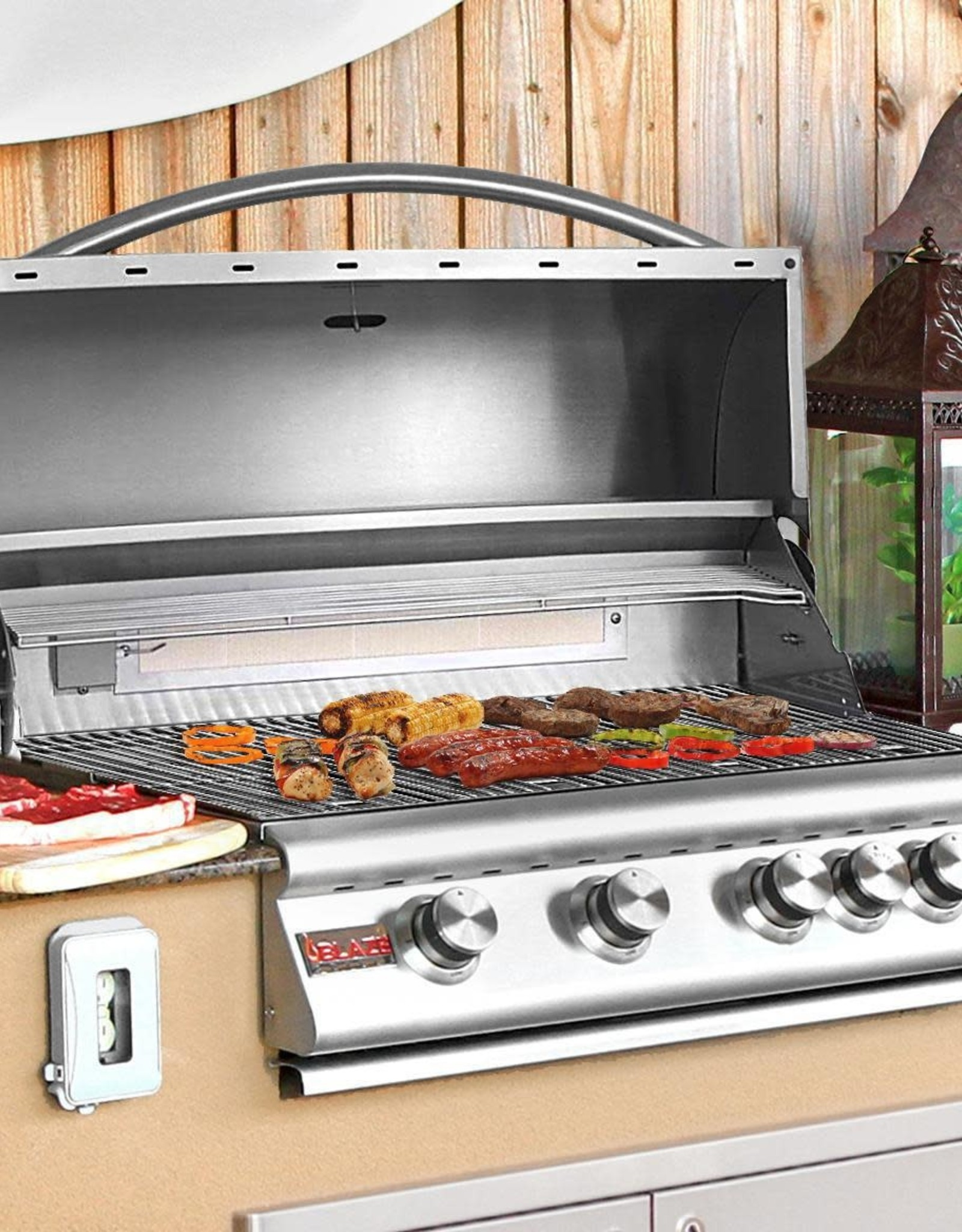 Blaze Outdoor Products Blaze  32-Inch 4-Burner Built-In Propane Gas Grill With Rear Infrared Burner