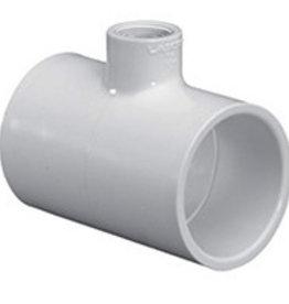 "Lasco Fittings PVC 1""x3/4"" Red Tee SCH 40"