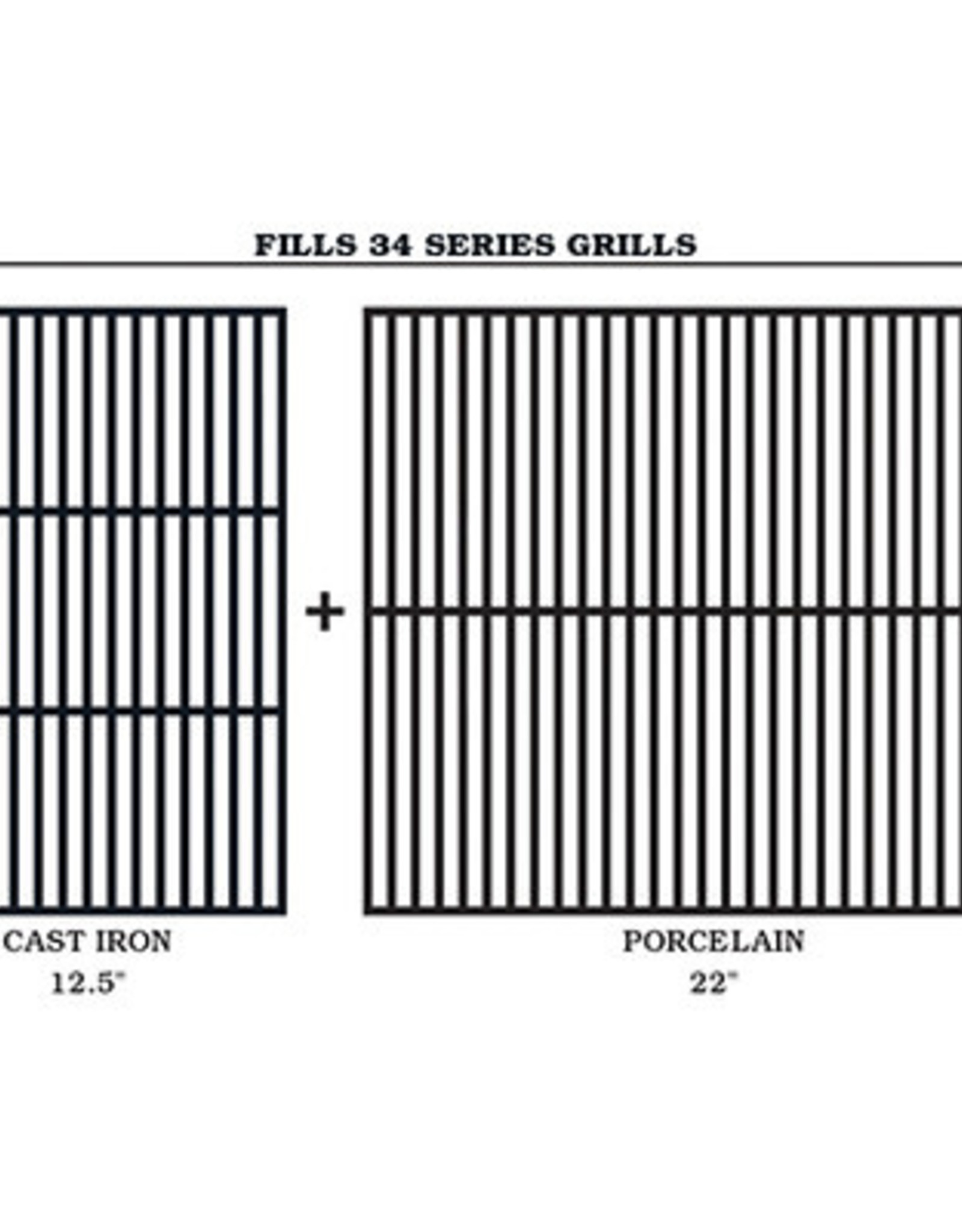 Traeger Traeger Cast Iron Cooking Grate Set For 34 Series Grills - BAC367