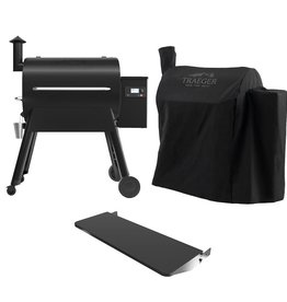 Traeger Traeger Pro 780 Wi-Fi Controlled Wood Pellet Grill W/ WiFIRE - Black W/ Front Shelf & Grill Cover - TFB78GLE + BAC442 + BAC504