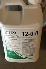 Lesco BULK LESCO Iron + Chelated Liquid Fertilizer 12-0-0 12%N 6%Fe 2% Mn 2.5 Gal.