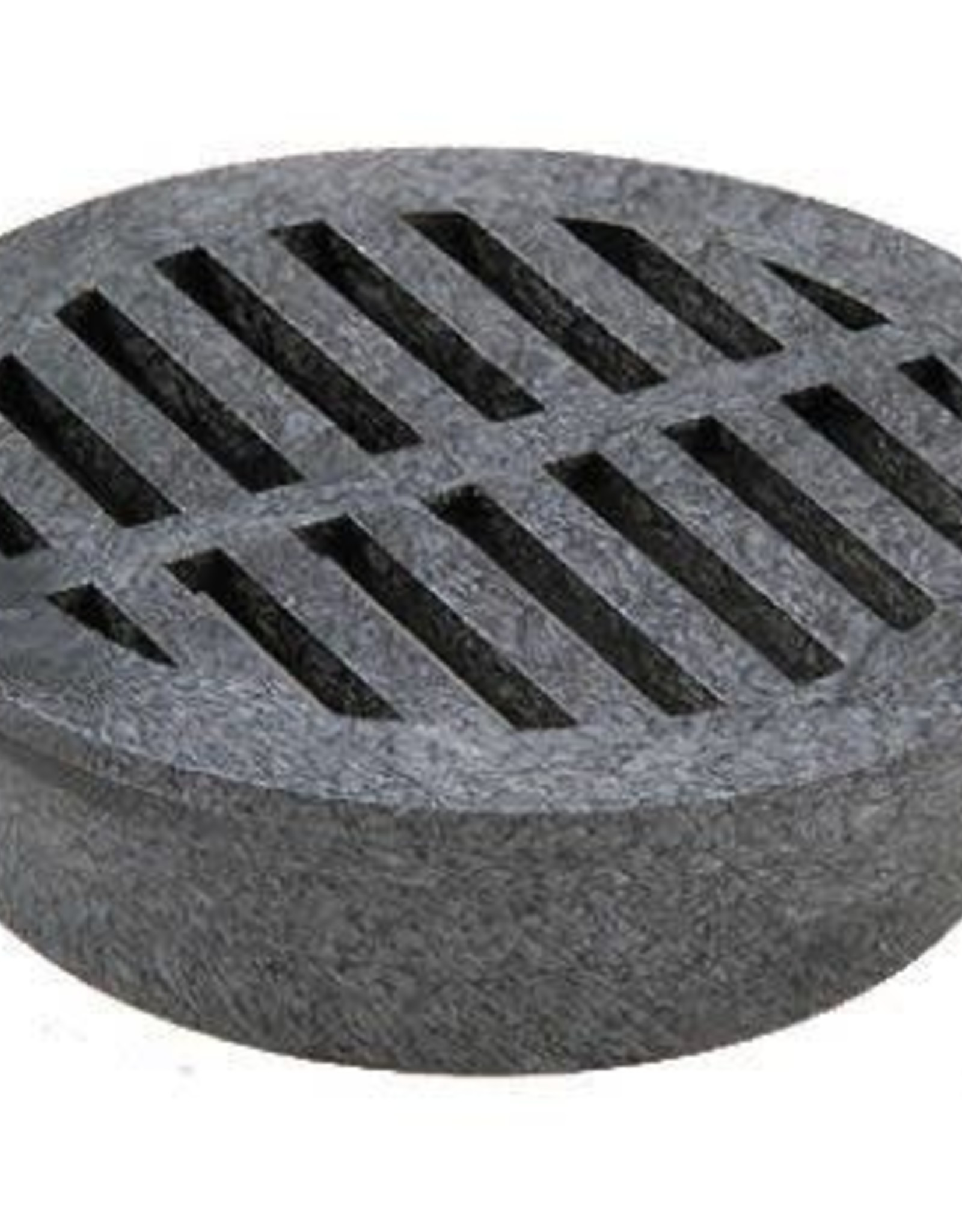 NDS Drainage NDS 40 Plastic Round Foam Polyolefin Grate, Black