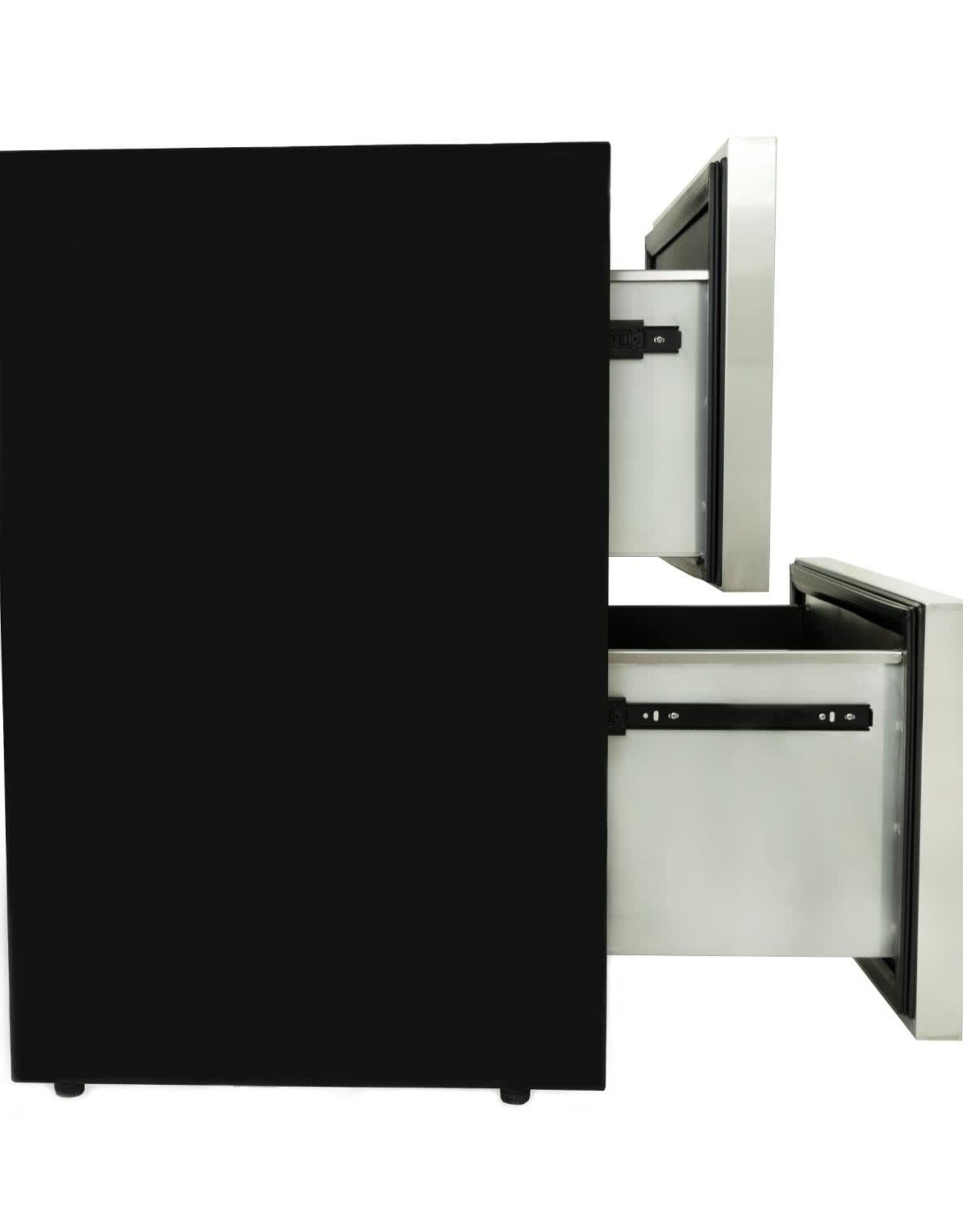 Blaze Outdoor Products Blaze 23.5-Inch 5.1 Cu. Ft. Outdoor Rated Stainless Steel Double Drawer Refrigerator - BLZ-SSRF-DBDR5.1