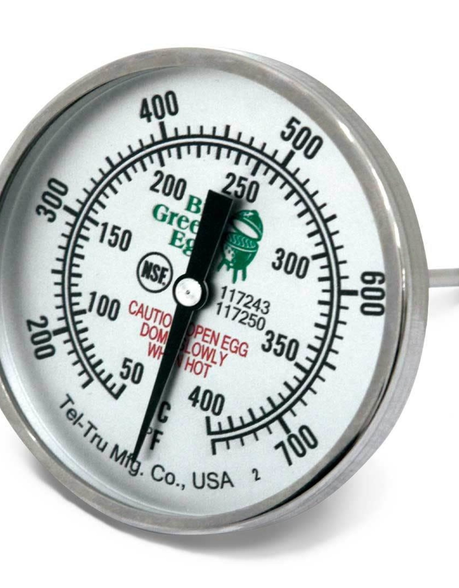 "Big Green Egg Big Green Egg - 3"" Temperature Gauge Thermometer Tel-Tru (750 Degree F / 400 Degree Celcius)"