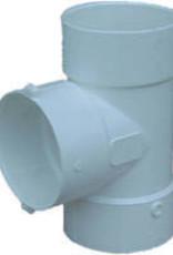 "NDS Drainage PVC 6"" Sewer & Drain Tee Hub x Hub x Hub, NDS 6p01"