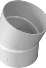 "NDS Drainage PVC 6"" Sewer & Drain 22 1/2 Degree  Elbow Hub x Hub, NDS 6p04"