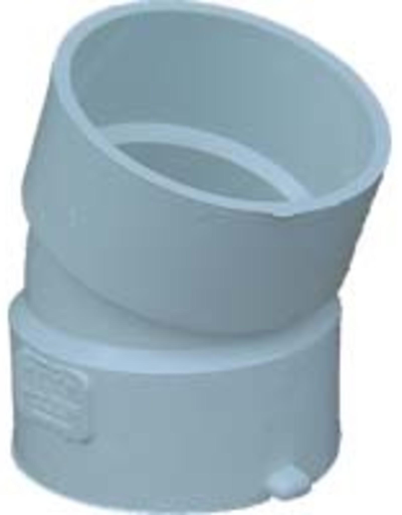 "NDS Drainage PVC 4"" Sewer & Drain 22 1/2 Degree Elbow Hub x Hub, NDS 4p04"
