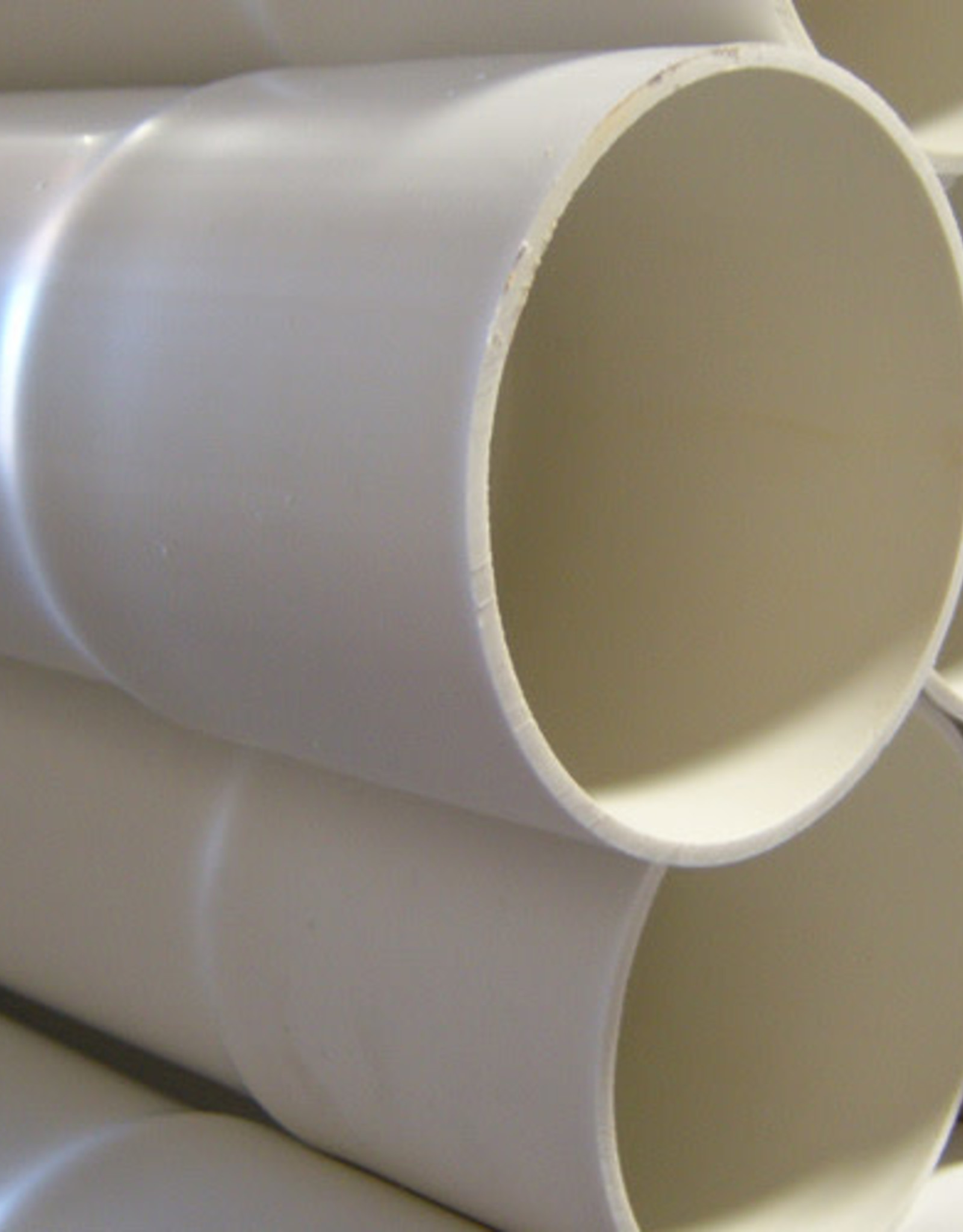 """PVC 4"""" White Sewer & Drain Pipe 4 in. x 10 ft. SDR-35 Bell End"""