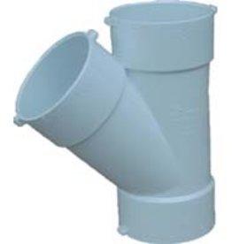 "NDS Drainage PVC 6"" Sewer & Drain WYE Hub x Hub x Hub, NDS 6p08"