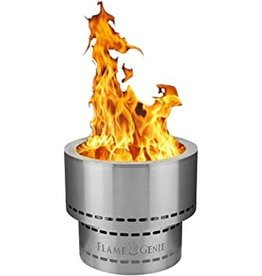 """Flame Genie Flame Genie Inferno 16"""" Wood Pellet Fire Pit Stainless Steal  FG-16-SS"""